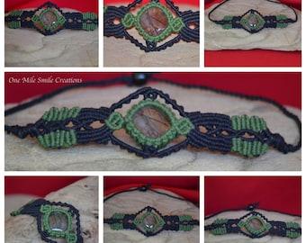 Tourmilated Quartz Macrame Bracelet