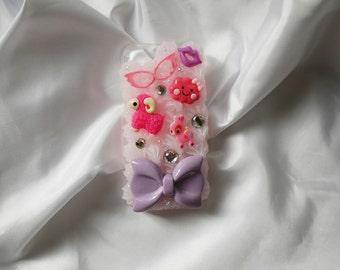 Pretty Pink + Purple iPhone 5 Decoden Case