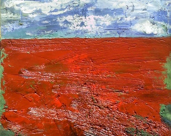 Oil painting ,,In the red''