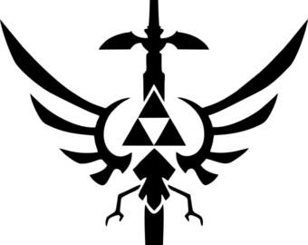 Legend of Zelda Triforce Mastersword Vinyl Decal - Choose Size/Color