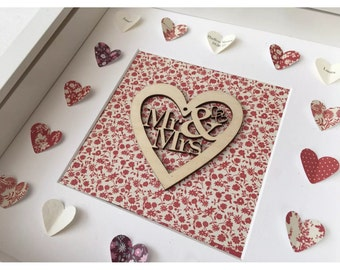 Personalised 3D Wedding Box Frame Gift