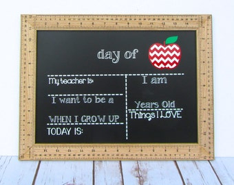 First Day of School Sign, Last Day of School Sign, Reusable First Day of School Sign, Reusable Last Day of School Chalkboard, Back to School