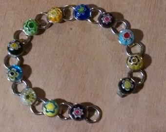 Bright Millifiori Beads Bracelet..