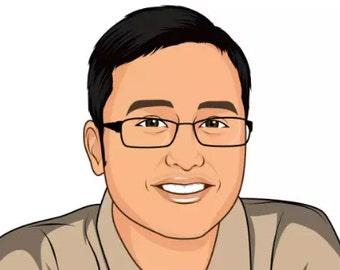I Will Draw Cartoon Portrait Of You.