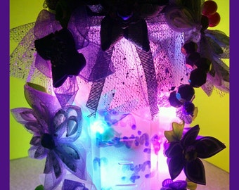 Purple dragonfly  lamp
