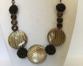 Quartz and Shell Necklace