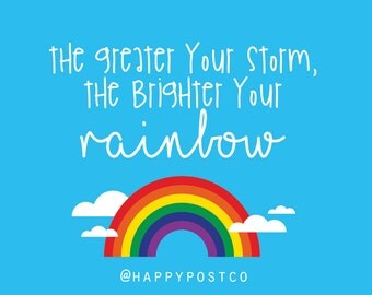 Brighter Your Rainbow Postcard