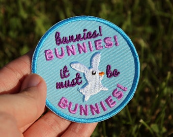 "Buffy the Vampire Slayer Inspired It Must Be Bunnies 2.5"" Iron On Embroidered Patch"