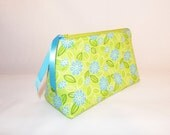 Cheerful Green & Blue Cosmetic Bag