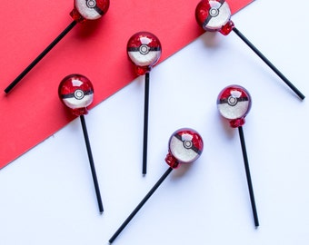 Set of Six Poké Ball Lollipops