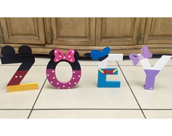 Mickey Mouse Clubhouse Letters