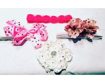 Custom Made Swarovski Baby Headbands