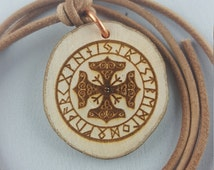Viking charm - pendant - Rune circle of the Viking - talisman - Medallion