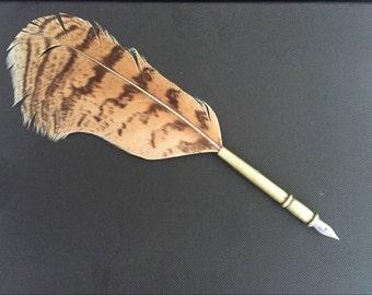 Natural Birds Feather Pen ,custom pen