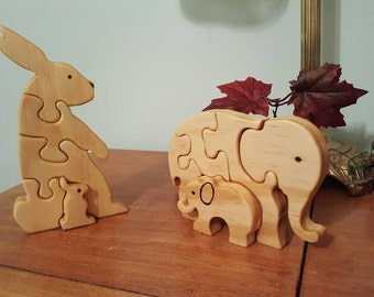 Wooden animal puzzels