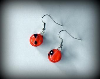 Halloween earrings/glass jewelry