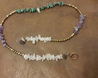 Necklace, anklet, bracelet, double wrap