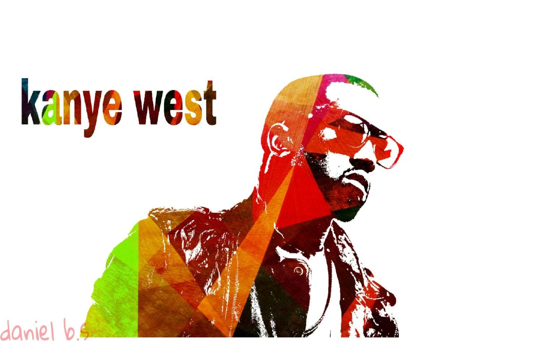 kanye west poster art rap pop star artist original by ...