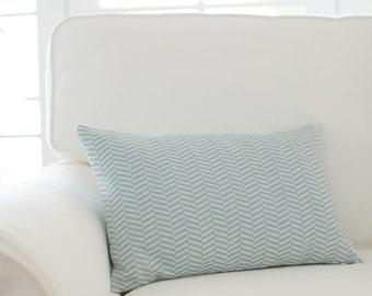 Herringbone Cushion Cover - Duck Egg Blue