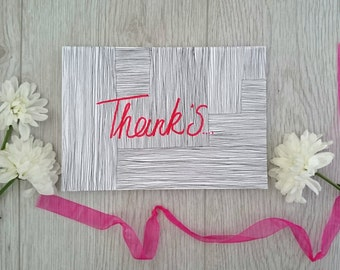 Hand drawn 'thank you' card