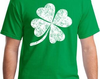4 Leaf Clover Vintage Distressed T-Shirt