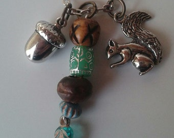 "A Squirrel and a Nut on 20"" Necklace"