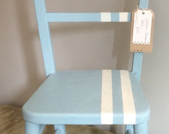 Victorian Childern's Chair in custom mix of Provence, Louis Blue and Pure, pick up or local delivery with fee only