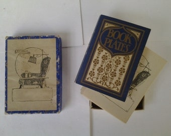 Cottage style bookplates in box
