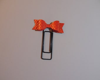 Red Bow Jumbo Paper Clip