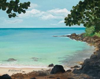 Hawaii 105 giclee canvas print from an original acrylic painting