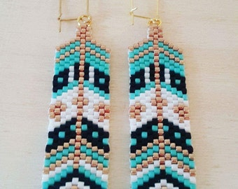 Chantal - Hand woven earrings