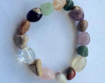 Mixed Tumbled Stones Bracelet