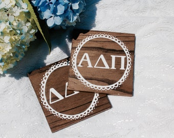 Wood Sorority Sign // customizable // handmade // wall decor