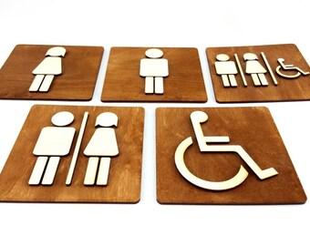 Toilet Door Sign, WC Sign, Restroom Door Sign, Toilet Decor, Toilet Plate, Toilet Plaque, Toilets Sign, Bathroom, Toilet Room, Cabin Sign