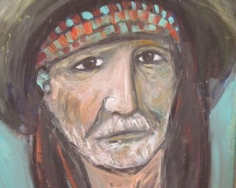Willie Nelson Portrait