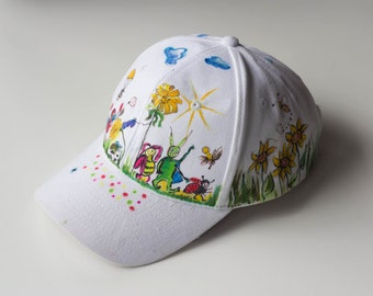 Cartoons Hat - Standard Size - Hand Painted