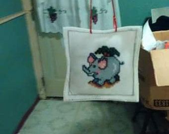 Let All creatures Praise the Lord counted cross stitch air freshner