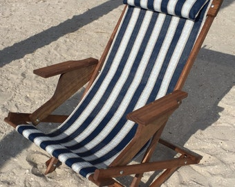 Dingmans deck chairs. rocking/folding sling beach chairs  hand made
