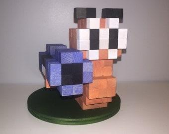 Bazooka worm inspired 3D-Holzskulptur