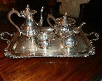 Gorgeous Antique 5 Piece Silver Tea & Coffee Set
