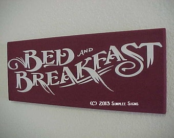 """BED and BREAKFAST,  Approximate size:  7.5 x 19"""" x  1""""     Category  Kitchen/Dining"""