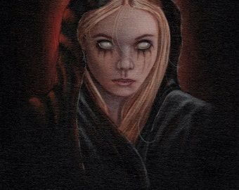 Hand painted demonic child