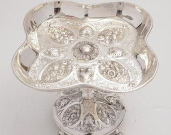 Victorian silver plated tazza (ID 47164)
