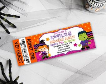 Kids Birthday Party Invitations, Halloween Birthday Invites, Halloween Invitations, Party Invitations, Kids Party Printables, Kids Halloween