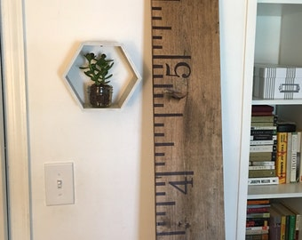 Hand Drawn Wooden Growth Chart Ruler