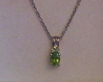 Hebei Peridot Pendant,Jewelry, Gemstone,Green,Necklace,Gifts for Her,Gift Ideas,Birthdays,Anniversary,