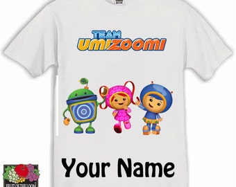 Team Umizoomi Kids Tshirt Ages 1-13 Available