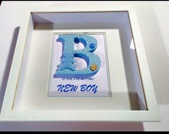 Beautiful baby boy keepsake box frame