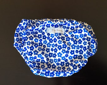 Blue Flower Print Diaper Cover