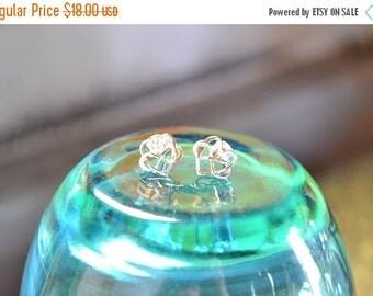 Sterling Silver Infinity Heart Post Earrings